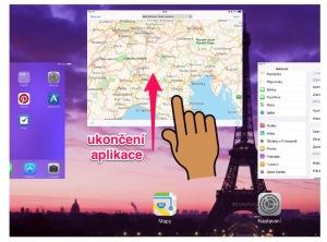 ukončení aplikace iPad