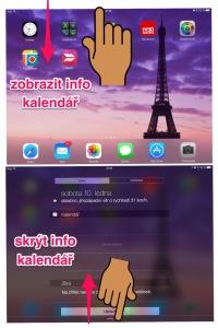 info kalendář iPad