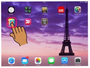 otevření aplikace iPad