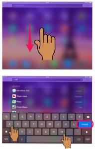vyhledání aplikace iPad